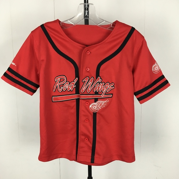 online retailer aa2dc a40c1 Detroit Red Wings Youth Baseball Jersey YOUTH 8/10